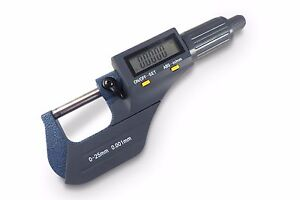 Electronic Digital Micrometer 0 1 0 25 Mm Sae Metric 00005 Resolution Taytoo