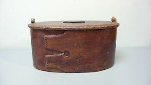 Early 19th Century Hand Made Wooden Swedish Painted Bride S Box Dated 1824
