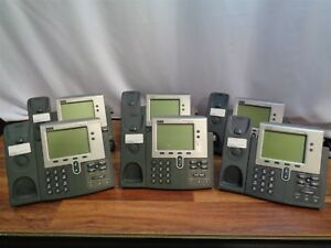 6 Cisco 7900 Series 7940g 7941g Unified Ip Lcd Business Phones bases Only
