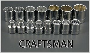 Craftsman Hand Tools 15pc Lot 3 8 Dr 12 Pt Metric Mm Ratchet Wrench Socket Set