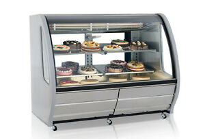 New 74 Refrigerated Display Case Nsf Torrey Pro kold Ddc 80 ss Bakery Deli 4934