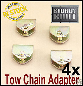 4x Chain Adapter G70 Tow Chain Ratchet Tie Down Straps Flatbed Truck Car Axle 2