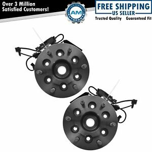 Wheel Hub Bearing Front Set Pair For Chevy Truck 4wd 4x4