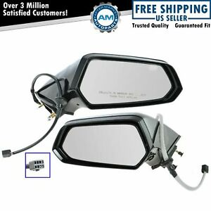 Side View Mirrors Power Left Lh Right Rh Pair Set For 10 13 Chevy Camaro