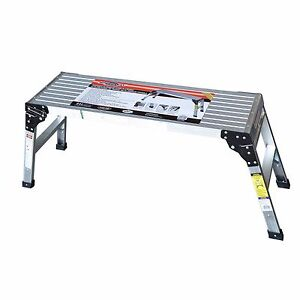 Speedway Aluminum Work Platform Drywall Step Up Folding Work Bench Stool Ladder