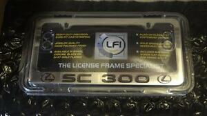 New Lexus Chrome Lfi Sc300 Engraved License Plate Frame Fits All Years
