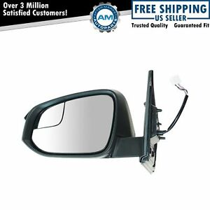 Side View Mirror Power Heater With Turn Signal Spotter Glass Lh For Rav4 New