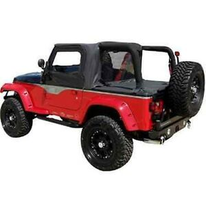 Rampage 993015 cab Top Soft Top Kit Black For 1992 1995 Jeep Wrangler