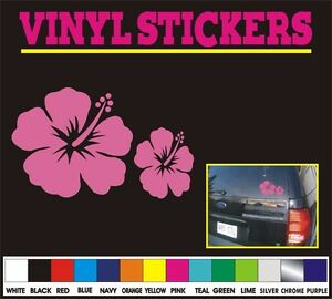 4 Hibiscus Flower Tribal Hawaiian Window Car Truck Vinyl Sticker Decal