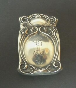 Nice Art Deco Sterling Silver Match Safe Vesta Case Unger Bros 25 Grams