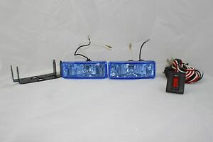2 4x4 Off Road Universal Driving Lamps Fog Lights Set Kit Wiring Harness 55