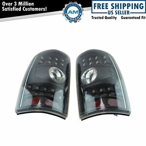 Performance Clear Lens Black Background Led Tail Light Pair For Tahoe Suburban