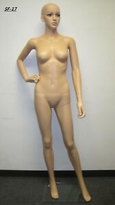 Head Moves Female Unbreakable Plastic Mannequin Manikin Form High Quality Sf17
