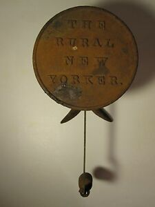 Antique 1891 Rural New Yorker Farm Magazine Store Advertising Scale Whale S Tail