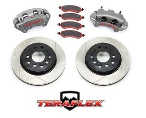 Teraflex Front Big Brake Kit W Slotted Rotors For 2007 2018 Jeep Wrangler Jk