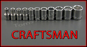 Craftsman Hand Tools 11pc 1 4 Dr 6pt Sae Ratchet Wrench Socket Set Free Ship