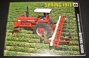 Ih International Farm Equipment Spring 1971 Buyers Guide