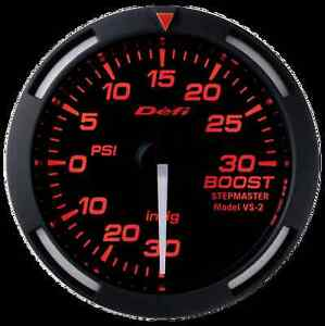 Defi Red Racer 52mm Boost Gauge W White Needle 30inhg To 30psi
