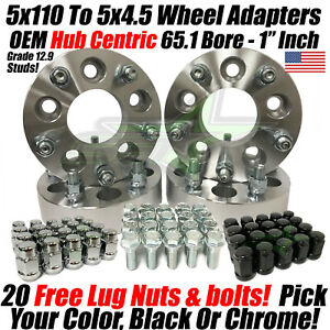 5x110 To 5x4 5 Wheel Adapters 1 Tj Yj Xj Rims On Cherokee Renegade Hubcentric