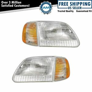 Headlight Parking Corner Light Left Right Pair Set For Ford Truck Expedition
