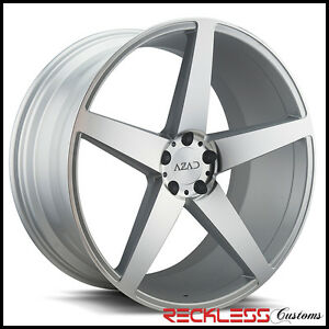 22 Azad El005 Silver Concave Staggered Wheels Rims Fits Lexus Ls460 Ls600