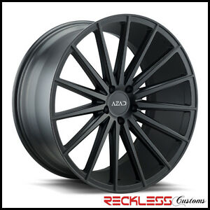 22 Azad Az48 Black Concave Staggered Wheels Rims Fits F15 Bmw X5