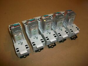 5pc Abb Ice Cube Relay Cr m0224dc4 W Cr m4lc