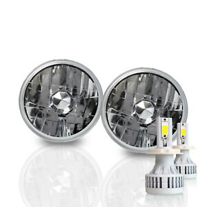 H5001 5 75 Round Sealed Beam Headlight Diamond Housing H4 Led Conversion Kit a