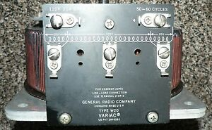 General Radio Company W20 Variac 120 Volts 20 Amps Open Rating 50 60 Hz