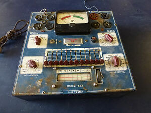 Radio City Products Co Model 323 Tube Tester Working Condition