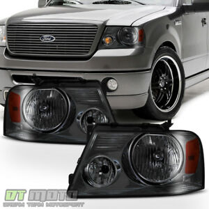 2004 2005 2006 2007 2008 Ford F150 Lobo Smoked Headlights Headlamps Left Right