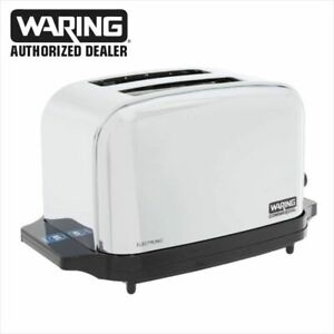 Waring Wct702 Commercial Light Duty 2 Slot Toaster 1 Year Warranty Blow Out