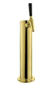 Kegco Dt145 1p 630 14 Pvd Brass 1 faucet Draft Tower Perlick Faucet