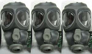 3x Scott M95 Respirator Gas Mask Swat Military Police Prepper New no filter