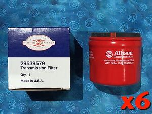 Allison 29539579 Transmission Spin On Filter Authentic Duramax T1000 6 Pack