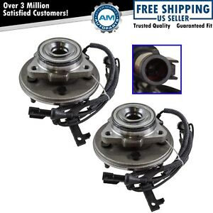 Wheel Hub Bearing Assembly Front Pair Set For 06 10 Mountaineer Explorer