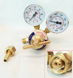 Rear Mount Oxygen Regulator Gas Welding Welder Brass Pressure Gauge Victori Typ