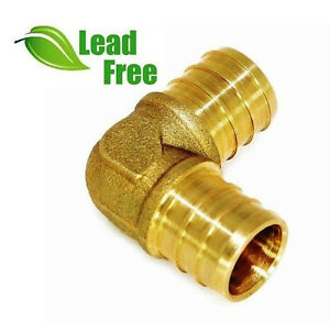 10 1 Pex Elbow Brass Crimp Fittings Lead free