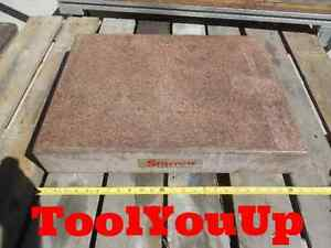 18 X 24 Starrett Grade B Pink Tool Room Surface Plate 55409 Machine Shop Tool