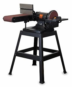WEN 6509 6 x 48-Inch Belt and 9-inch Disc Sander with Stand