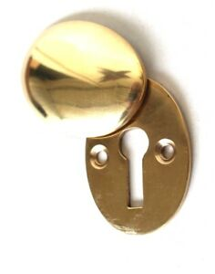 Oval Swivel Vintage Style Cast Brass Key Hole Cover Cabinet And Door Escutcheon