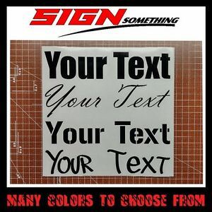Your Text Decal Sticker Custom Customizable