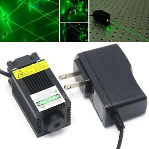 532nm 100mw Green Focus Dot Laser Diode Module W 12v Adapter For Carving