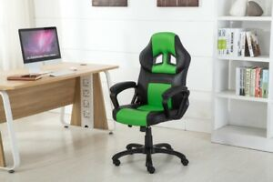 High Back Racing Style Bucket Seat Gaming Chair Swivel Office Desk Pu Leather