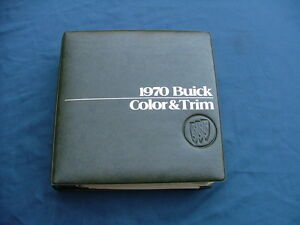 1970 Buick Color And Trim Selector Dealer Album Nice Riviera Skylark Gs