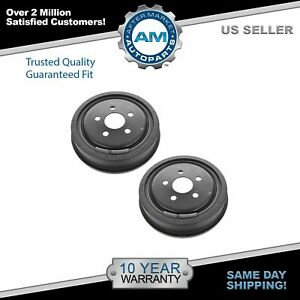 Rear Brake Drum Pair Set For 03 05 Chevy Cavalier Pontiac Sunfire