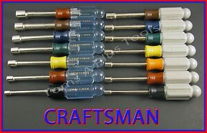 Craftsman Hand Tools 14pc Sae And Metric Mm Nut Driver Set Free Shipping