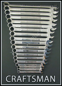 Craftsman Hand Tools 19pc Lot Metric Mm Combination Wrench Set Free Shipping
