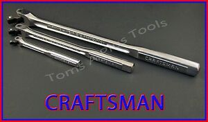 Craftsman Tools 3pc Flex T Handle Breaker Bar Ratchet Socket Wrench Set