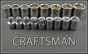 Craftsman Hand Tools 17pc Lot 3 8 Dr 6pt Metric Mm Ratchet Wrench Socket Set